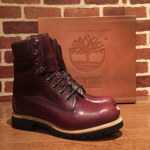 new york popular stores good texture Timberland Burgundy Horween Leather 8 INCH BOOT. NWT